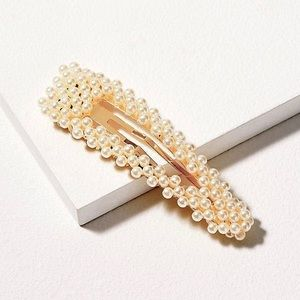 Accessories - New Faux Pearl Barrette Set Of Two